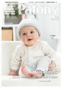 Hand Knitting PATTERN ONLY Patons Baby Classic Hats Aviator Beret 3978 New