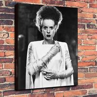"Classic Horror Bride Of Frankenstein Box Canvas A1.30""x20"" 30mm Deep - Halloween"