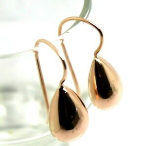 Kaedesigns New 9ct Solid Rose Gold Tear Drop Hook Earrings