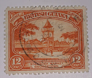 Travelstamps: BRITISH GUIANA Stamps Scott #215 Used NG Handstamped