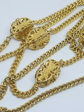 KENNETH JAY LANE KJL Gold Tone Long Chain Necklace