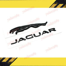 Gloss Black Jaguar Logo Emblem Rear Badge Decal For Xe Xf Xj Xjl E F I Pace Fits Jaguar