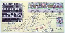 AUSTRALIA TO ENGLAND 1977 JUBILEE ORIGINAL FULLY SIGNED CRICKET FIRST DAY COVER