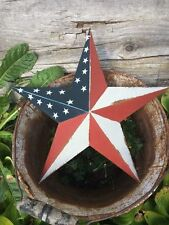 "ONE (1) 12"" PATRIOTIC AMERICANA STAR PRIMITIVE AMERICAN G8T W BLACK BARN STARS"