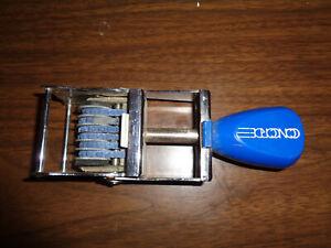 Vintage CONCORDE Rubber  Number Stamp Ink Stamper Roller PLASTIC Handle 6 NUMBER