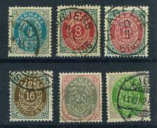 Denmark Stamps - Scott # 26, 28-32 - Used Fine - Cat. Value $84.00 (S180)