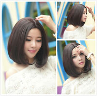 Fashion Women Short Straight Hair Wigs Cosplay Party Bob Hair Wig Heat Resistant