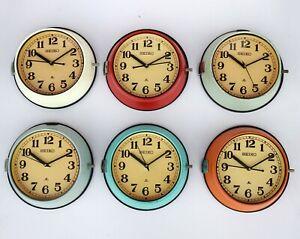 Vintage Maritime Seiko Clocks Original Slave Nautical Ship Quartz Clock by Japan
