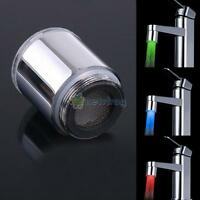 RGB Colour Changing Glow LED Light Water Stream Faucet Tap For Kitchen Bathroom