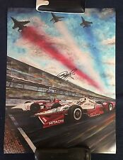 Arie Luyendyk & Juan Montoya Signed Poster Indianapolis Indy 500 Car 2016