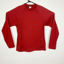 Everlast Performance Mens Long Sleeve Tshirt Size Large Red With Black Piping