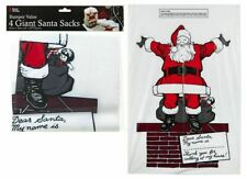 4 x Giant Santa Sacks Stocking Jumbo Christmas Large Xmas Gift Present Bag