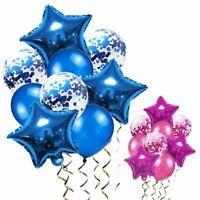 1 Pc Blue Balloons Birthday Star Foil Helium Birthday Party Decorations Kids Adu