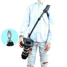 Quick Rapid Shoulder Sling DSLR Camera Strap+Steel Stainless Clip & Safety Strap