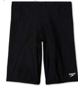 NWT Speedo Boy's Swimsuit Jammer Begin to Swim Solid Speedo Black Size 4