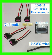 x2 GM Chevy Truck 2005-12 Electric Fan Pigtail Connector Switch Harness 10 AWG