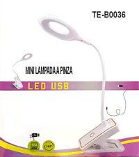 LAMPADA DA TAVOLO TOUCH PINZA SCRIVANIA LED CASA 3 LUMINOSITÀ SNODABILE USB 036