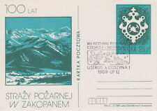 Poland postmark USTRON - music Festival Czech and Slovak song
