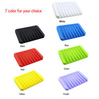 Silicone Soap Dish Holder Eco-friendly Reusable Soap Tray Soapbox Saver  Great