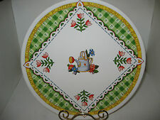"""Mary Engelbreit 10"""" Plate 2000 """"Bloom Where You're Planted"""" Decorative"""