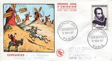 FRANCE FDC - 224 1134 1 CERVANTES 9 11 1957