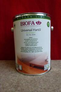 Biofa 2044 Universal Hartöl  2,5 l für ca.40m² Bioöl Naturfarbe Holzöl Boden+Möb