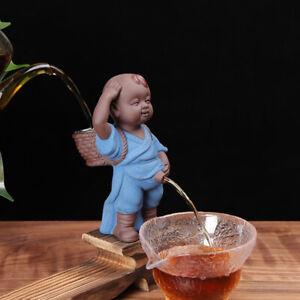 creative tea pet yixing zisha monk pee doll tea strainer boy statue tea play new