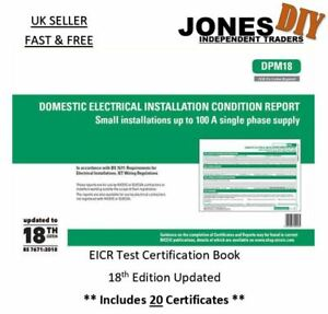 ELECTRICAL INSTALLATION CONDITION REPORT BOOK CERTIFICATE DOMESTIC EICR