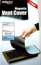 "Deflect-o Magnetic Vent Cover 3pk for Wall Ceilling Floor Vents 5""X12"""