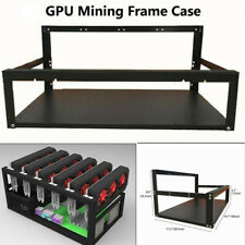 Steel Open Air Miner Mining Frame Rig Case Up 6/8 GPU For Crypto Coin Computer