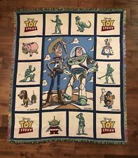 "Disney's TOY STORY Character Afghan Throw Blanket Fringed Edge 46x56"" GUC"