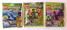 Lot of 3 Ninjago Lego Booster Packs JAY ZX 9553 LIZARU 9557 BYTAR 9556 Sealed