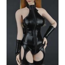 Hot Toys 1/6 Skala Action-Figuren Sexy hoch Halsband Leder Kleidung