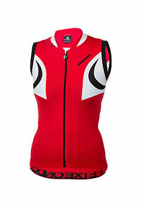 Women's ETXEONDO Aroa TX Sleeveless Cycling Jersey in Red - Made in Spain