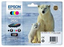 Genuine Epson 26XL Polar Bear Multipack Claria Premium Ink Cartridge T263640 26