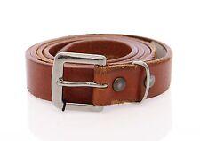 NEW $200 DOLCE & GABBANA D&G Brown Leather Logo Belt Cintura s. 95 cm / 38 inch
