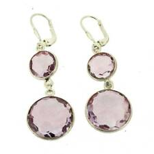 Purple Amethyst Earrings Sterling Silver Dangle February Birthstone Leverback