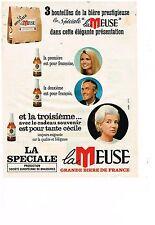 """PUBLICITE  1968    LA MEUSE  grande bière de France """" SPECIALE"""""""