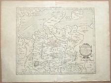 Antique Map Germany Belgium Germaniam Et GalliamBelgicam Gerhard Mercator C1690