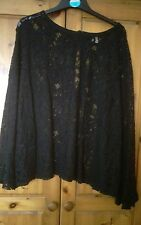 Black lace top 22/24  gorgeous design very flattering fit rock/Goth evening