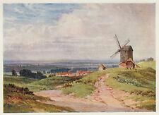 Brill Windmill, Buckinghamshire, Sutton Palmer vintage print in mount SUPERB