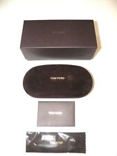 Tom Ford Sunglasses Eyeglasses Brown Medium Set Hard Cell Case Cloth Box booklet
