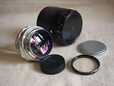 RARE SILVER JUPITER-9 85mm f/2 Soviet Carl Zeiss Sonnar copy SLR lens M39/M42