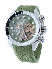 Technosport TS-640-12 Men's World Timer GMT Swiss Chrono Military Green Watch