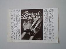advertising Pubblicità 1940 BINOCOLO SAN GIORGIO
