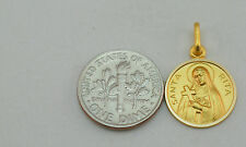 18K gold St. Rita medal / pendant