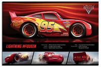 Cars 3 Lightning McQueen Stats Official Poster New - Maxi Size 36 x 24 Inch