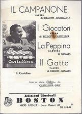 IL CAMPANONE - I GIOCATORI - LA PEPPINA - IL GATTO # SPARTITO - R. Castellina
