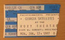 1987 GEORGIA SATELLITES ROXY HOLLYWOOD CONCERT TICKET STUB KEEP YOUR HANDS
