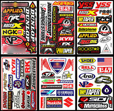 Racing Motocross Motorcycle Bike Decals Helmet ATV Wakeboard Bumper Stickers AS1